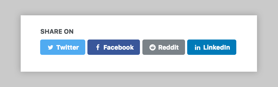 Reddit social share link button